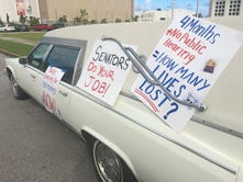 Calvo administration parks hearse at Guam Congress to illustrate need for GMH improvements