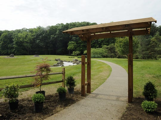 Visitors can check out Dawes' Japanese Garden during spring break.