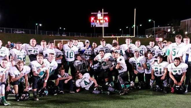 Thursday's win at Avery County was the 32nd in a row for the Mountain Heritage junior-varsity football team.