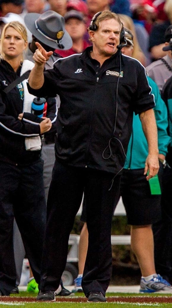 USA TODAY SPORTS Coastal Carolina  head coach Joe Moglia