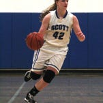 Scott's Holly Kallmeyer made a buzzer-beating layup to give the Eagles a 52-50 win over Beechwood Friday.