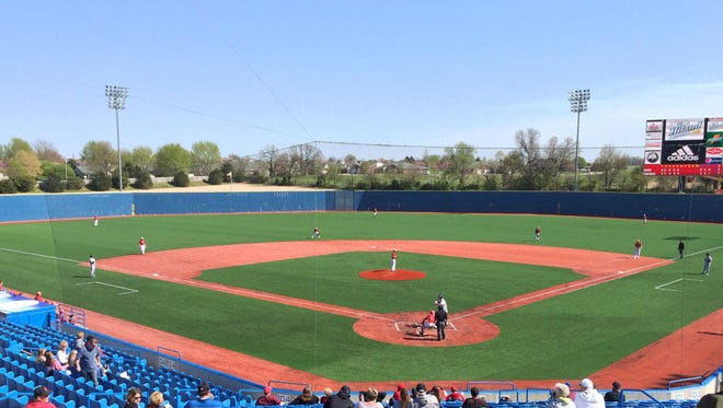 """The recently revamped U.S. Baseball Park in Ozark hosts """"Pack the Park"""" day Saturday with Drury hosting Quincy for an NCAA Division II doubleheader at noon."""