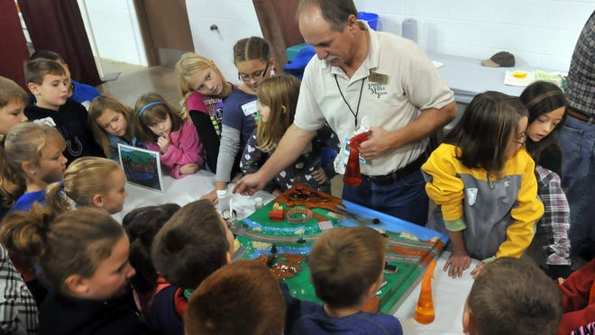 Students check out soil and water conservation at Conservation Days put on by the Wayne County Soil and Water Conservation District.