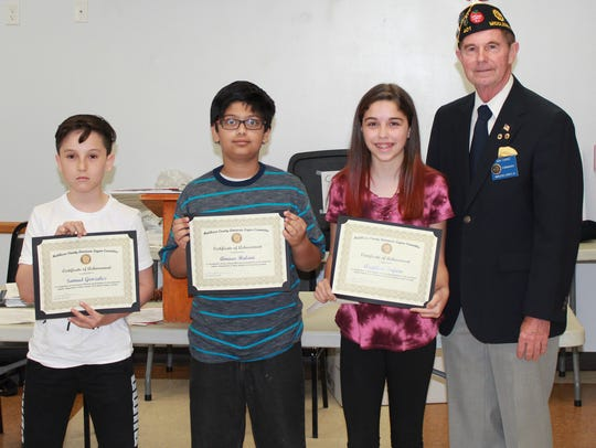 From left: Samuel Gonzalez, Amaar Halani, Angelina