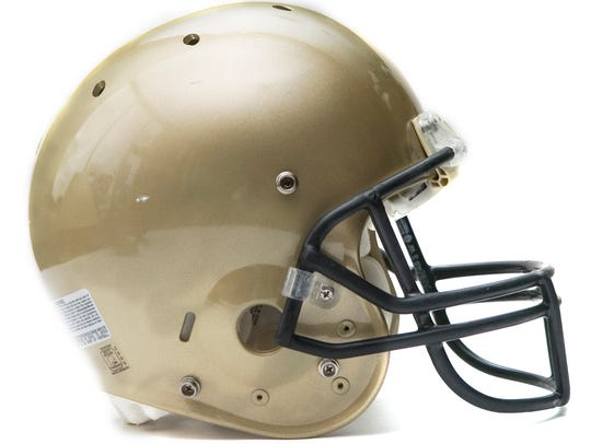 Delone Catholic football helmet