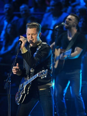 Frankie Ballard performs at the CMT Music Awards on Wednesday, June 10, 2015, in Nashville.