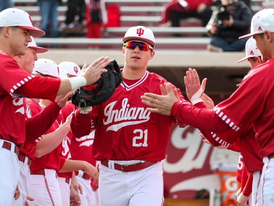 IU outfielder Elijah Dunham appears primed to add big-time power to an already potent offense.