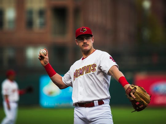 Memphis Redbirds third baseman had two RBI doubles in Game 1 of the PCL finals Wednesday night.