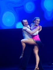 Gala champion Cassy Tully performs with a professional