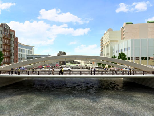Rendering of the east side of the new bridge