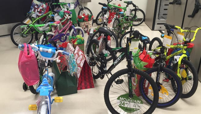 About 14 bikes were donated by the Carlsbad Municipal School district employees, R360 Environmental Solutions and Constructors Inc.