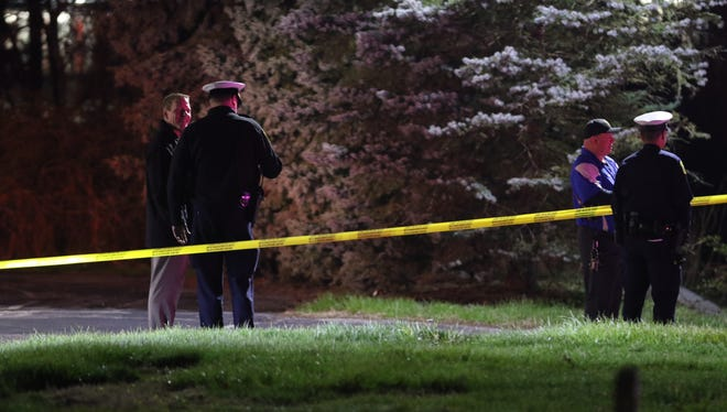 Police respond to the report of a deceased teenager on the campus of Seven Hills School Tuesday night.