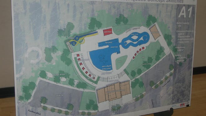 Officials said the Thompson Park Pool design would be a combination of a pair of schematics previously presented to the Amarillo City Council,  including the one pictured above.