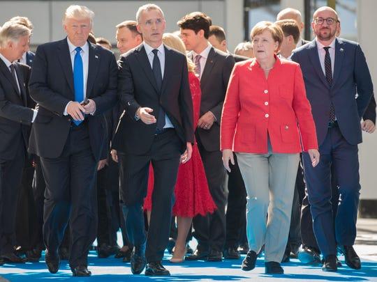 President Donald Trump, NATO Secretary General Jens