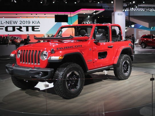 The 2018 Jeep Wrangler Rubicon at the North American