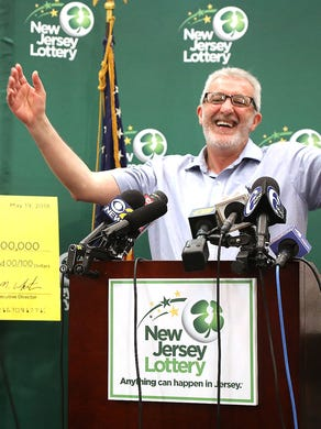 Here's Tayeb Souami from Little Ferry when he was introduced as the $ 351.3 million Powerball winner.  He bought the winning ticket in Hackensack.