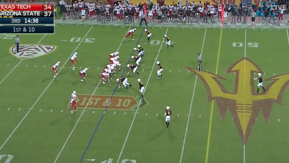 Texas Tech used one variation of the shotgun offense.