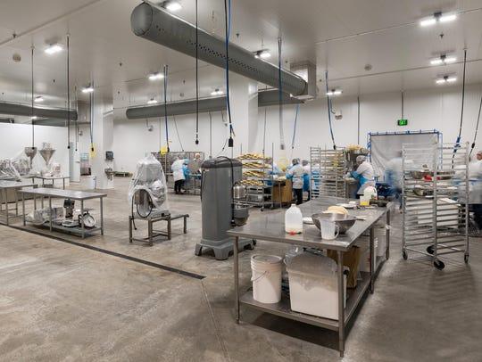 Interior of the new Willamette Valley Pie Company facility
