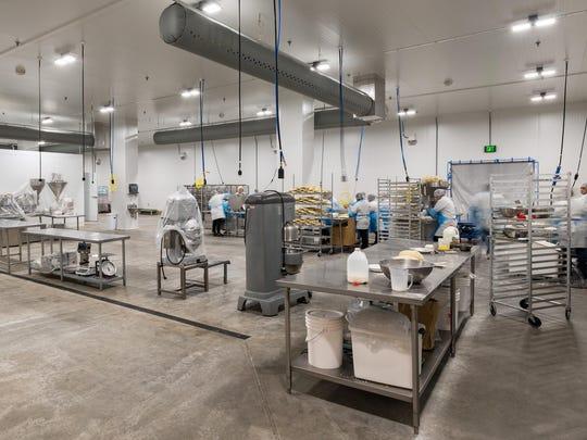 Interior of the new Willamette Valley Pie Company facility in Silverton.