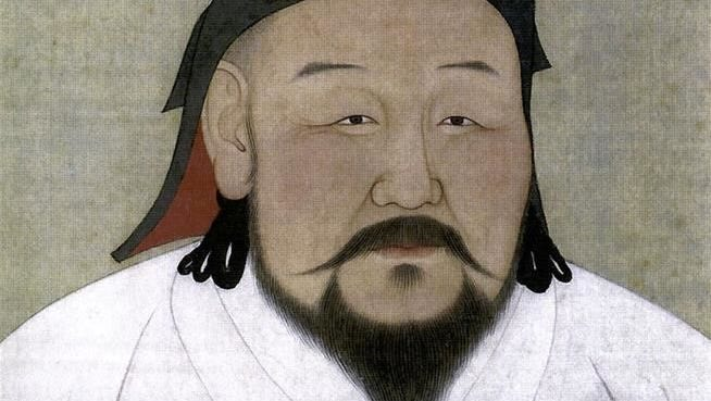 Kublai Khan, in a painting done after his death in February of 1294 by Anige, a Nepalese artist and astronomer.