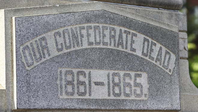 The Confederate monument on South Third Street in Louisville, erected in 1895, will be removed immedately, Louis Mayor Greg Fischer and President James Ramsey of the University of Louisville announced April 29, 2016.