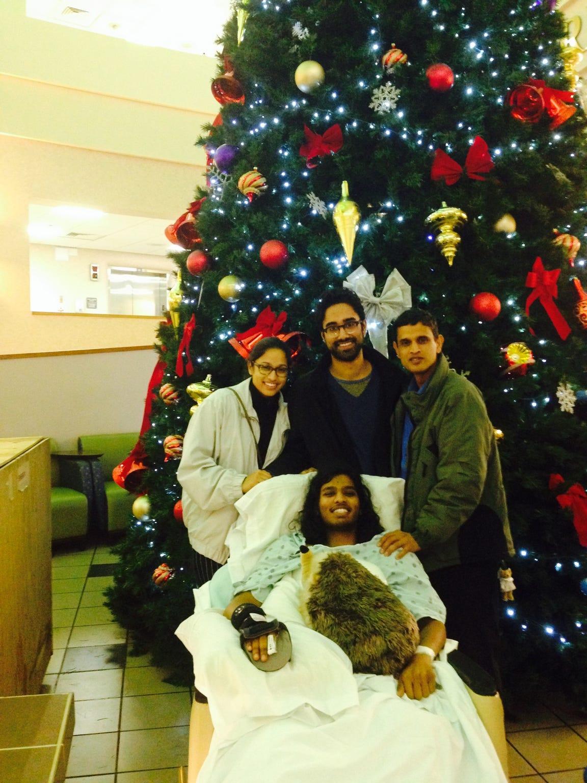 "Farhan ""Ronny"" Ahmed and family at Christmas"