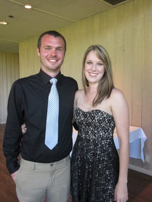 Kyle Brouse and Morgan Christiansen attend the 2015 Capital Fútbol Club Soccer Ball on April 18, 2015.