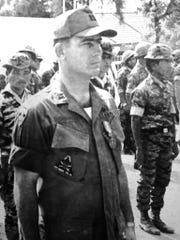 Freddie Ussery is shown during a ceremony when he received the Vietnam Cross of Gallantry in 1969. This was an award presented by former President Nguyen Van Thieu and the Vietnam Congress to any Americans or other non-Vietnamese natives in gratitude for sacrificial and valorous service trying to protect and preserve the Republic of South Vietnam from communist aggression.