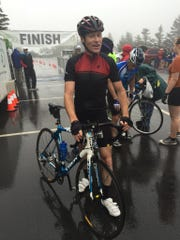 At the finish of the 2015 Assault on Mount Mitchell.