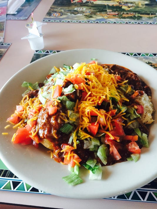 Indian taco with Indian fry bread