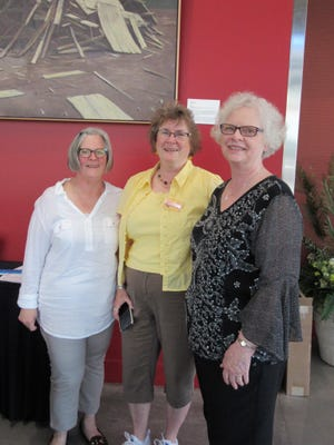 Sue Karnosh, Sue Schroeder and Janet Noyes attend the Willamette Art Center All Fired Up Benefit Auction, held June 6 at the Salem Convention Center.