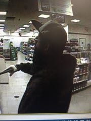 Armed robbery suspect at 7-Eleven on Winkler.