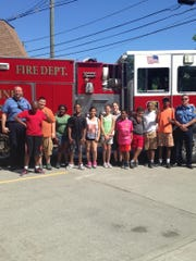 The Extended School years program at Linden High School recently enjoyed a tour of Firehouse No.1 with Chief Joseph G. Dooley and other members of the fire department.