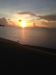 Deejay Basa shared this photo of the sunset at Ypao Beach.