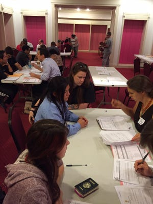Immigrants in Middle Tennessee aspiring to be citizens received pro bono assistance from immigration lawyers and public defenders as they began the naturalization process on Saturday.