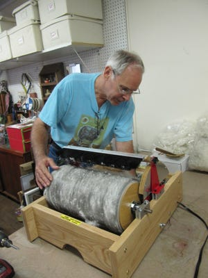 Otto Strauch of Strauch Fiber Equipment Company in New Castle, VA, is the maker and manufacturer of the double-wide mechanized drum carder, one of the three machines that would be shipped to the proposed cooperative sites in Mongolia.