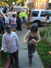Zombies will be crawling around Frenchtown on Oct. 24. They will gather from 2 to 4 p.m. for makeup and events and then start crawling around town. Here's a scene from last year.