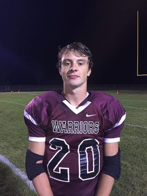 Wes-Del's Adam Routh ran for 140 yards and three touchdown's in a 28-0 win over Anderson Prep.