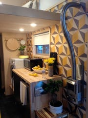 The kitchen in Vincent Sorgentoni's tiny house.