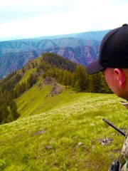 Dominic Aiello on a spring bear hunt in Eastern Oregon.