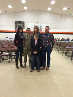 Capitan fourth grader Preston Eleck Stone (center) will be named an honorary U.S. Army Ranger during a Veterans Day ceremony at the school Wednesday.