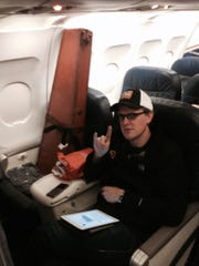 Bonamassa bought his vintage guitar a first-class seat for the flight to Indianapolis in November.