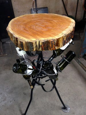 Rustic chic table by John Hendry