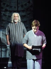 Bill Martin plays The Giver and Walter Pultz plays