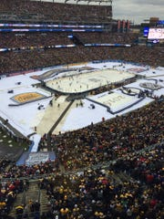 The Winter Classic hockey game took place at Gillette Stadium in Massachusetts.