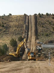Excavation work is done in Dry Valley as part of the North Valleys Importation Project.