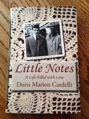 This is the book Doris Cardelli had published about her life. On the cover is a photo of her with her late husband, Ed Cardelli.