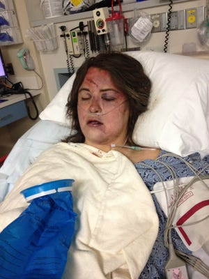 Rebekah Bowers Sanders pleads with people to celebrate Mardi Gras in a responsible way after she and her husband were involved in a drunk driving crash.