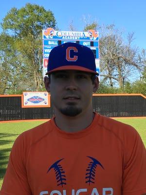 Columbia Academy pitchers and catchers coach Ryan Havard.