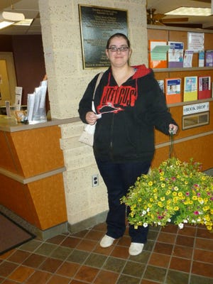 Jennifer Bosco was the winner of the Mother's Day hanging basket giveaway at Franklin Township Library.